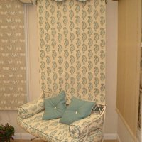 Roman blind with seat